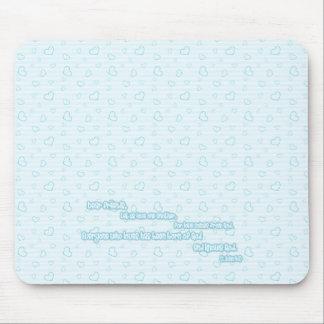 Escritura del amor azul alfombrillas de raton