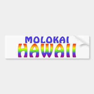 Escritura del arco iris de Molokai Hawaii Pegatina Para Auto