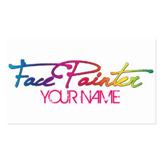 Escritura del arco iris tarjetas de visita