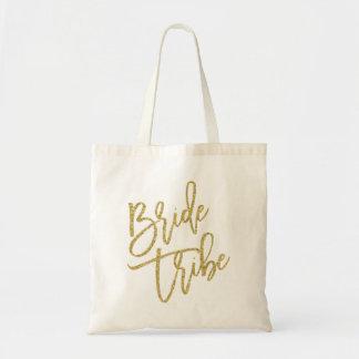 Escritura del brillo del oro de la tribu de la bolsa tela barata