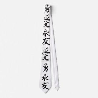 escritura del chiense corbatas personalizadas