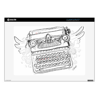Escritura del corazón de la máquina de escribir I Portátil Skin