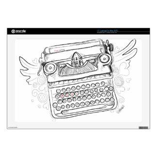 Escritura del corazón de la máquina de escribir I Portátil Skins