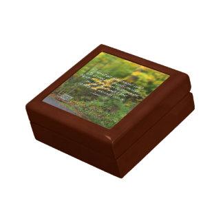 Escritura del cristiano del verso de la biblia del caja de regalo