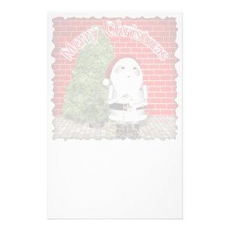 Escritura del día de fiesta del navidad papeleria personalizada
