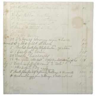 Escritura del diario del vintage servilleta imprimida
