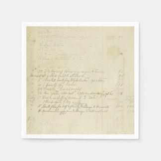 Escritura del diario del vintage servilletas desechables