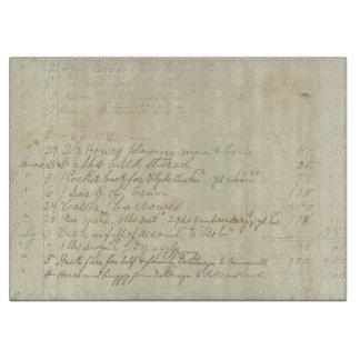 Escritura del diario del vintage tablas de cortar