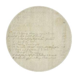 Escritura del diario del vintage tabla de cortar
