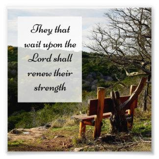 Escritura del estímulo del verso de la biblia cojinete