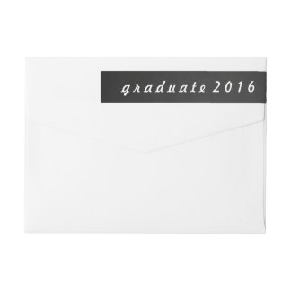 Escritura del graduado 2016 de la pizarra del etiquetas envolventes de remitente