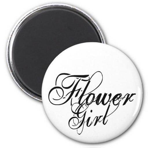 Escritura del Grunge de Naughy - negro del florist Imán Redondo 5 Cm
