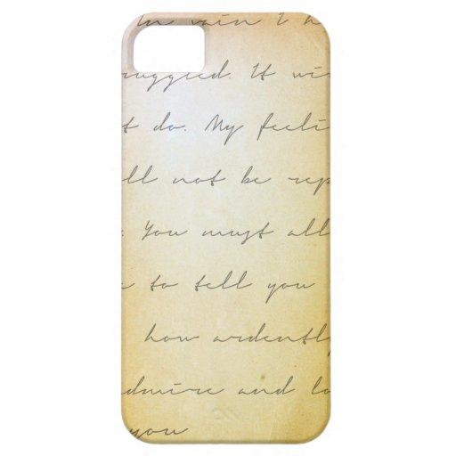 Escritura del orgullo y del perjuicio archival iPhone 5 carcasas