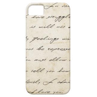 Escritura del orgullo y del perjuicio archival iPhone 5 Case-Mate fundas
