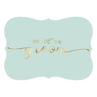 """Escritura del oro con amor a mi tarjeta del día de invitación 5"""" x 7"""""""