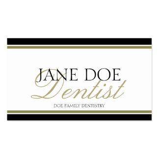 Escritura del oro del dentista - papel con tarjetas de visita