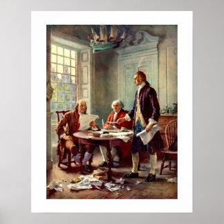 Escritura del poster de la Declaración de