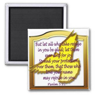 Escritura del salmo con la paloma imanes para frigoríficos