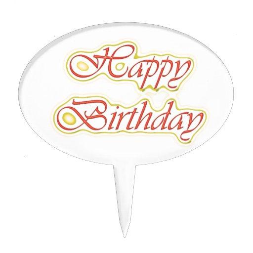 Escritura ELEGANTE del feliz cumpleaños de HappyBi Decoraciones Para Tartas