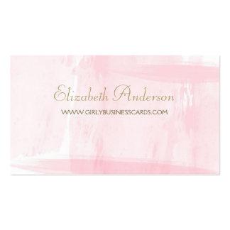 Escritura elegante del oro de la acuarela rosada tarjetas de visita
