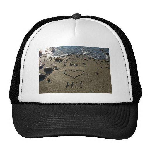 Escritura en la arena gorra