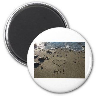 Escritura en la arena imán redondo 5 cm
