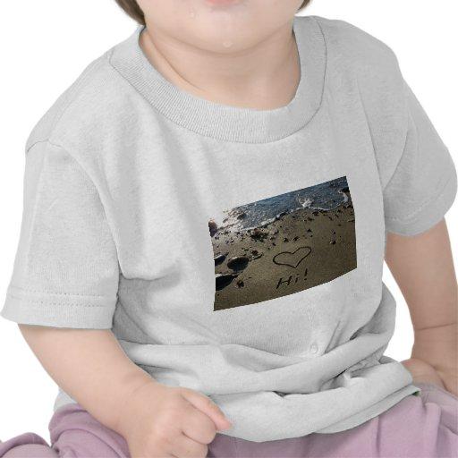Escritura en la arena camiseta