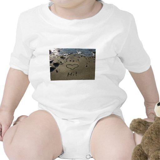Escritura en la arena traje de bebé