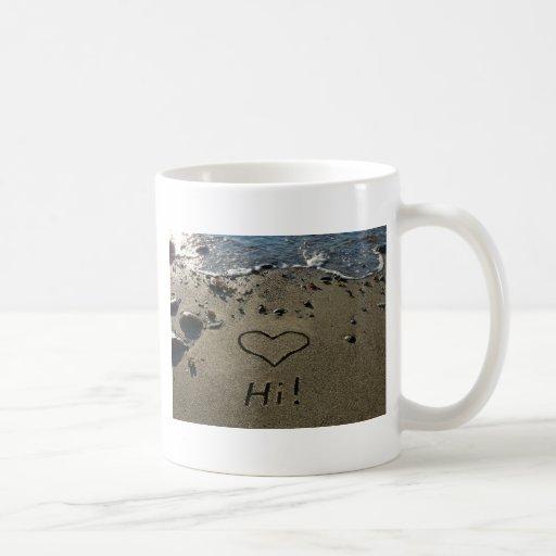 Escritura en la arena tazas