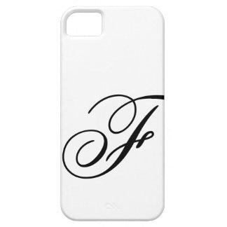 Escritura F iPhone 5 Funda