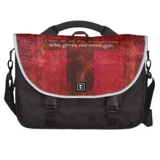 Escritura inspirada del 4:13 de los filipenses bolsas para portátil