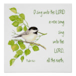 Escritura, inspirada, pájaro del 96:1 del salmo, n impresiones