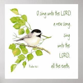 Escritura inspirada pájaro del 96 1 del salmo n impresiones