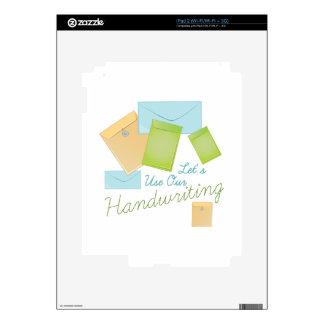 Escritura iPad 2 Calcomanías