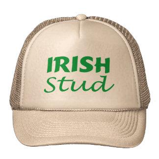 Escritura irlandesa del verde del perno prisionero gorro de camionero