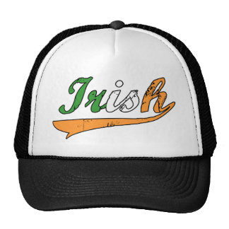 Escritura irlandesa gorra