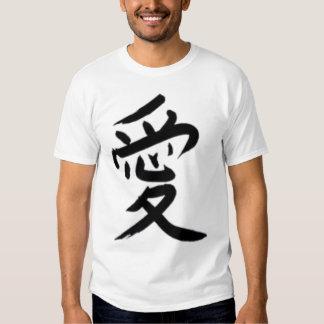 Escritura japonesa (amor) remera