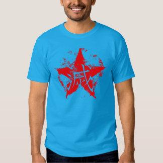 Escritura japonesa para la estrella del interior camisas