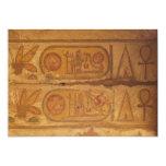 Escritura jeroglífica egipcia invitación 12,7 x 17,8 cm
