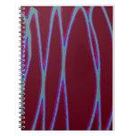 Escritura ligera del zigzag cuaderno