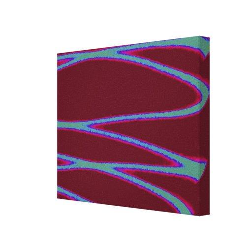 Escritura ligera del zigzag lienzo envuelto para galerías