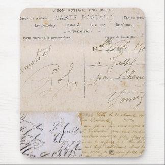 Escritura Mousepad de la postal del vintage