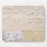 Escritura Mousepad de la postal del vintage Alfombrillas De Ratones