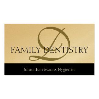 Escritura oral del cirujano de la oficina dental d plantilla de tarjeta de negocio