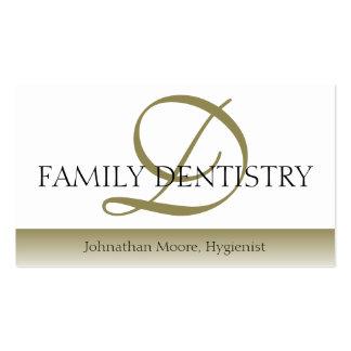 Escritura oral del cirujano de la oficina dental d tarjeta de visita
