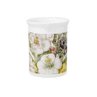 Escritura pintada 5 del ramo de la flor del vintag jarra para bebida