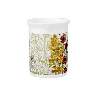 Escritura pintada 6 del ramo de la flor del vintag jarrón