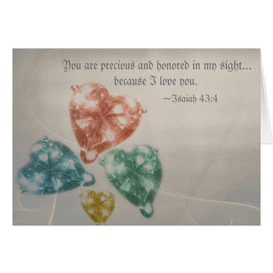 Escritura preciosa de las joyas tarjeta de felicitación