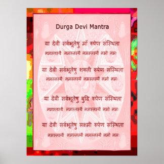 Escritura rápida popular del mantra de Devi Póster