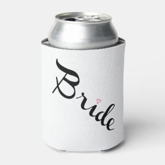 Escritura retra de la novia enfriador de latas
